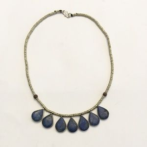 Vintage Handmade lapis lazuli stone necklace
